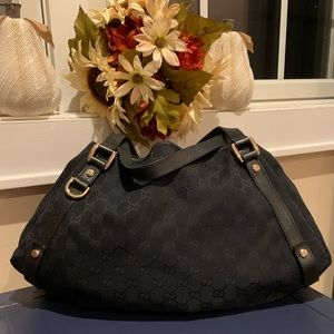 Authentic Gucci Abbey Black Hobo Shoulder Bag